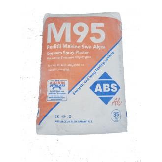 Купить Штукатурка  ABS SIVA М95 гипсовая, машинная (Турция) 35 кг. в интернет магазине Будуйка