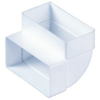 Колено вертикальное Vents 110х55 мм (5252) купить в Будуйка