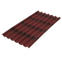 Лист битумный Ондулин Черепица 2000х960 мм красный купить в Будуйка