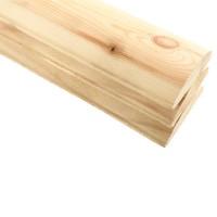 Блок-хаус сосновый целый 3000x120x40 мм 3 шт купить в Будуйка