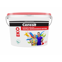 Краска интерьерная акриловая белоснежная матовая Ceresit Эко (Церезит Эко) 14 кг купить в Будуйка