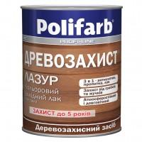Лазурь деревозащита алкидный лак, Золотоя сосна, Polifarb 0,7 кг купить в Будуйка