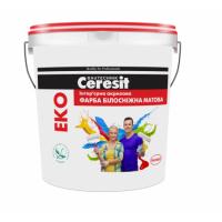 Краска интерьерная акриловая белоснежная матовая Ceresit Эко (Церезит Эко) 7 кг купить в Будуйка