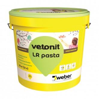 Купить Шпатлевка WEBER Vetonit LR Pasta (Вебер Ветонит ЛР Паста) 20 кг в интернет магазине Будуйка
