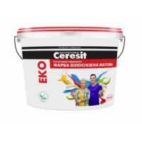 Краска интерьерная акриловая белоснежная матовая Ceresit Эко (Церезит Эко) 4,2 кг купить в Будуйка