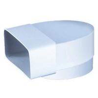 Колено Vents 110x55 мм/d=100 мм (521) купить в Будуйка