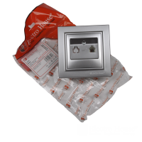 Розетка телефонная серебро Enzo купить в Будуйка