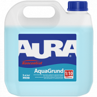Влагозащитная грунтовка глубокого проникновения для внутренних и наружных работ AURA Koncentrat Aquagrund концентрат 1:10 0,5 л купить в Будуйка
