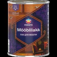 Водоразбавляемый акриловый лак для мебели Eskaro Mooblilakk  15   0,45 л купить в Будуйка