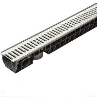 Желоб пластиковый со стальной решеткой Standartpark ЛВ-10.16.12-ПП купить в Будуйка