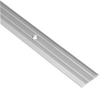 Профиль алюминиевый анодированный рифленый 25 мм 2.7 м серебристый купить в Будуйка