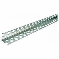 Уголок штукатурный алюминиевый 25 х 25 х 2500 перфорированный купить в Будуйка