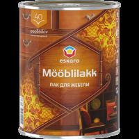 Водоразбавляемый акриловый лак для мебели Eskaro Mooblilakk  40   0,45 л купить в Будуйка