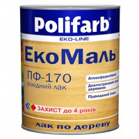 Лак Polifarb ЭКО ПФ-170 прозрачный для дерева,  0,8 кг купить в Будуйка