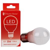 """LED лампа """"шар"""" E27 G45 8W купить в Будуйка"""