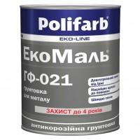 Грунт Polifarb ГФ-021 ЭКО красно-коричневый,  0,9 кг купить в Будуйка