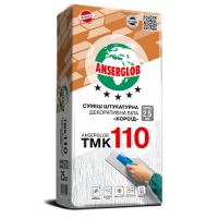 Штукатурка декоративная короед Anserglob TMK 110 (Ансерглоб ТМК 110) белая  2,0-2,5 мм 25 кг. купить в Будуйка