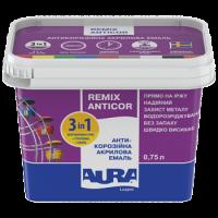 Антикоррозионная акриловая эмаль Aura Luxpro Remix Anticor RAL 1018 желтый 0,75 л купить в Будуйка