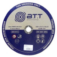 Круг зачистной A.T.T. 230x6.0x22.23 мм металл купить в Будуйка