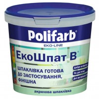 Шпатлевка акриловая Экошпат для внутр работ,  Polifarb,  1,5 кг купить в Будуйка