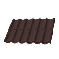Металлочерепиця ПСМ 8017 темно-коричневая 1180х2250 мм купить в Будуйка