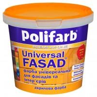 Краска универсал-фасад Polifarb,  1,4 кг купить в Будуйка
